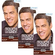 3 x Just For Men Touch of Grey Dark Brown/Grey (T-45) 42g