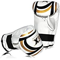 Adult Bag Mitts Mico Hide Leather Punch Bag Mitts Sparring Boxing Training Muay Thai Martial Arts for (Fast & Furious) Fighters