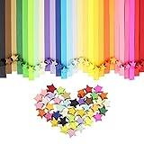 Htinac Origami Sterne Papierstreifen Papiersterne falten Papier, 27 Farben 1080 Streifen