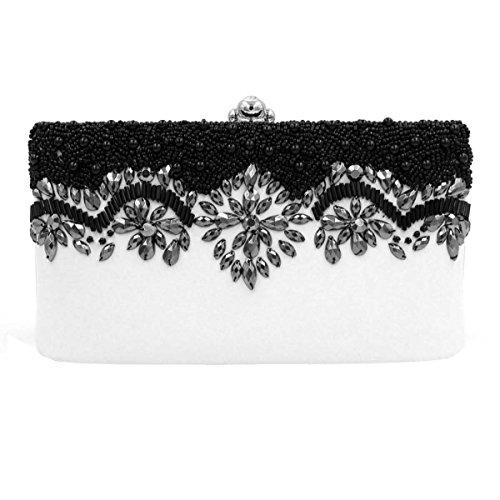 Damen-Luxus-Diamant-Abendtasche Handtasche Perle Bankett Tasche OneColor