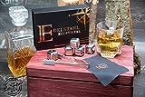 Le Flair Edelstahl Eiswürfel mit unglaublicher Kühlleistung - 8 wiederverwendbare Whisky Steine ohne Verwässerung - Whiskeysteine, Kühlsteine, Ice Cube in Plastik Box + Zange + Poliertuch