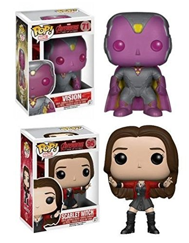 Funko POP! Avengers Age Of Ultron: Vision + Scarlet Witch - Vinyl Figure Set NEW