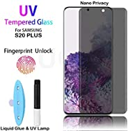 Nano Privacy Samsung Galaxy S20 PLUS 3D Fully covered Curved Tempered Glass Screen Protector with UV Light Glu
