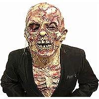 HZJA Halloween Navidad Bioquímica Crisis Demon Skeleton Bloody Rot. Máscara De Cabeza De Zombie, Terror Ghost Bar Prom Apuntala Máscara De Miedo