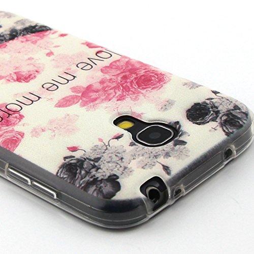 iPhone 5C Custodia, iPhone 5C Cover Silicone, iPhone 5C Case, Felfy Colorate Fashion Morbido Protettiva TPU Gel Silicone Protettivo Skin Tasca Custodia Shell Case Cover Bumper Caso per Apple iPhone 5C Rose Flower