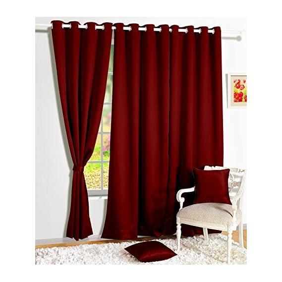 Ab home decor Set of 2pc Heavy Blackout Curtains