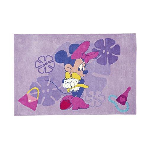 Home Life Alfombra con Diseño Disney Minnie, Acrílico, Lila, 60 x 110 cm