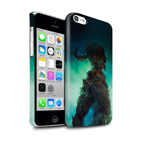 Offiziell Chris Cold Hülle / Glanz Snap-On Case für Apple iPhone 5C / Kriegsheld/Warlock Muster / Dämonisches Tier Kollektion Gehörnter Dämon