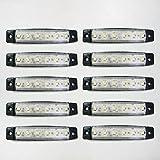 CarJoy WSM12V10 12V LED Seitenleuchte Lichter Seitenmarkierungslichter Bus Anhänger LKW Chassis Camper Weiß 10