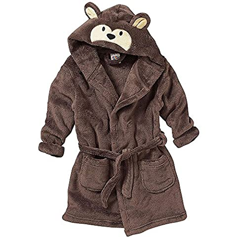 Boys Girls Dressing Gown Monkey Design 7 to 12 Years (7-8 Years)