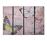 Schmutzfangmatte / Fußmatte / Fussmatte / Fußabstreifer / Fußabtreter / Schmutzmatte Modell Butterfly - Schmetterlinge - witzig lustig 3D 3 D Optik Größe ca. 40 x 60 cm / Ecomat-Fußmatte / sehr hochwertige Fußmatte