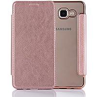 Coque Samsung Galaxy A5 2016 PU Cuir silicone TPU Coloris Rose Etui Housse