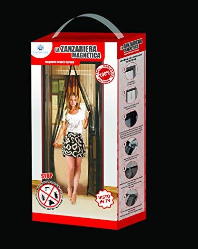 Tenda zanzariera magnetica 140x240 bianca standard con magnete,mosche zanzare