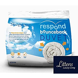 Sleepworks All Seasons Duo 15 Tog Luxury Hotel Quality Respond Bounce Back Superking Bed Size Microfibre Duvet Quilt, Embossed Soft Touch Ideal For Summer & Winter (4.5 10.5 Tog) By Littens