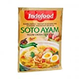 Indofood Soto Ayam, di colore Giallo Chiaro Brodo di Pollo, 45 grammo (pacchetto di 1)