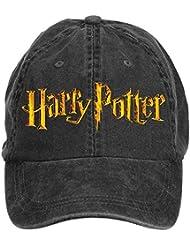 Hittings Jidlg Custom Men Cotton Harry Potter Symbol Letter Adjustable Baseball Cap Black