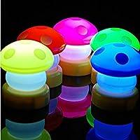 BlueloverLED colorato fungo premere il Touch lampada notte luce -