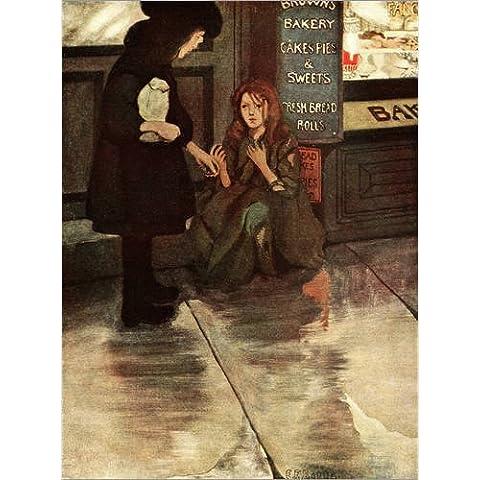 Impresión en madera 70 x 90 cm: Beggar Girl de Ethel Betts