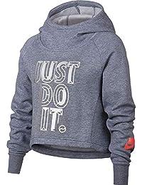 Nike G NSW Hoodie Crop PE JDI Sudadera, Niñas, (Ashen Slate/htr