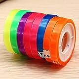 Zhuhaimei,CH-08 Ruban Adhésif Plastique Fournisseurs Etudiants 8PC(Color:Multicolore)