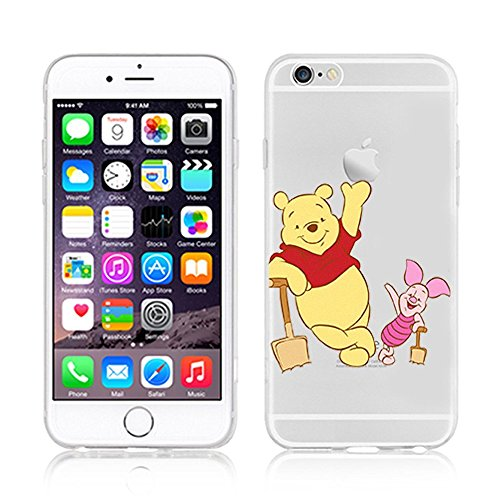 Disney Weiche Handyhülle Winnie Puuh und seine Freunde, transparent, TPU-Material, für Apple iPhone 5/5S, 5SE, 5C, 6/6S, 6+/6+S, plastik, WINNIE .1, APPLE IPHONE 5SE WINNIE & PIGLET .1