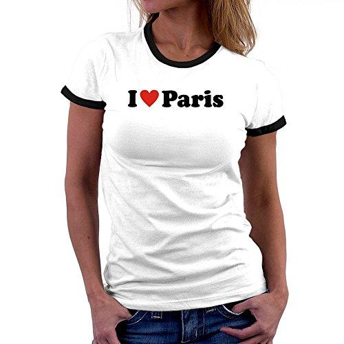 Teeburon i love paris maglietta donna ringer