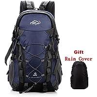Netchain Deporte al Aire Libre, 40L Viaje Mochila Trekking Senderismo Excursionismo Alpinismo Escalada Camping para Hombre Mujer (4-Azul Oscuro)