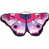 MRULIC Faschings kostüme Kinder Mädchen Jungen Butterfly Wing Cape Schmetterling Flügel Kostüm Schmetterlingsflügel Karneval Kostüm Kimono Schal Cape Tuch