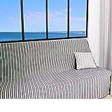Soleil d'ocre Cotonnade Jeté de Canapé Polyester Coton Gris Anthracite 170 x 250 cm