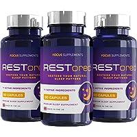 RESTored Combinación Herbal de 5-HTP, L-Triptófano, Magnesio Glicinato, L-Teanina, Minerales y Vitaminas Esenciales.