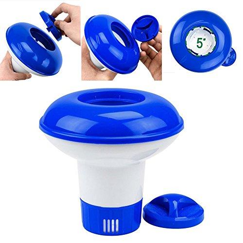 Hinmay Piscina dispensador de productos químicos bolsa de almacenamiento flotante desinfectante flotador Afloat Tablet (bromo y cloro) pastillero soporte Auto Supplier Paddling
