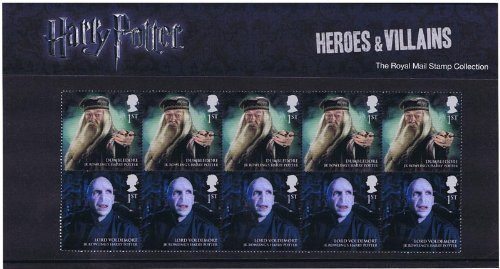 2011 Harry Potter Heroes and Villains Stamps in Presentation Pack by Royal Mail