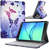Seluxion - Etui de Protection et Support Universel L Motif HF06 pour Tablette Polaroid Infinite 10,1 Pouces [Dimensions 27,5cm x 19cm]