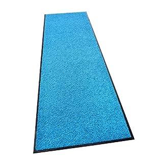 acerto 30239 Premium Fußmatte Schmutzfangmatte ZANZIBAR blau 60x120cm * Extrem strapazierfähig Außen & Innen * Frostsicher * PVC-frei – Sauberlaufmatte Haustür Schmutzmatte Türmatte Design Türvorleger