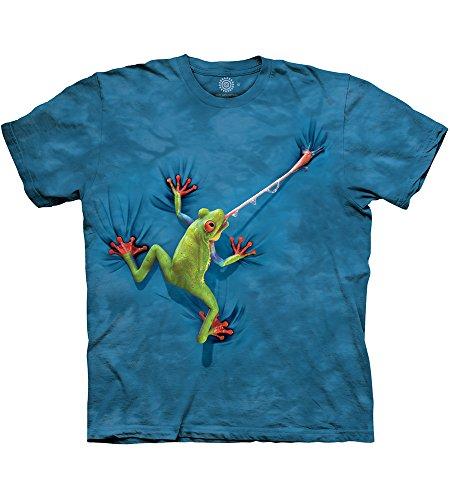 The Mountain Unisex Erwachsen Frog Tongue Amphibian T Shirt, Blau, XL
