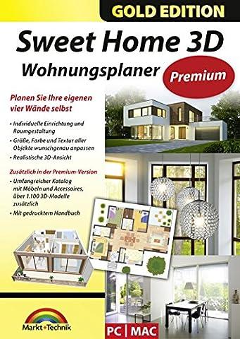Sweet Home 3D Wohnungsplaner - Premium Edition mit zusätzlichen 1.100 3D Modelle und gedrucktem Handbuch, ideal für die Architektur, Haus und Wohnplaner - für Windows 10-8-7-Vista-XP & (Windows 7 Home Premium Kaufen 64 Bit)