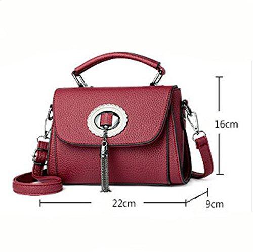 Borse Piccole Borse Versione Coreana Del Nuovo Sacchetto Di Spalla Messenger Bag Messenger Bag Red