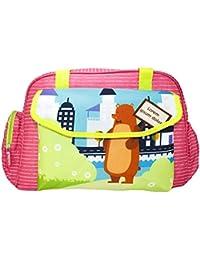 Rachna's Lorem Ipsum Dolor Bear Matte Fabric Multi-Purpose Travel Organizer Water Repellent Baby Diaper Bag -...