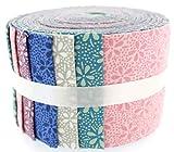 Tessuto Freedom floreale frullatori 1Jelly Baby roll, 100% cotone, multicolore, 9x 9x 7cm