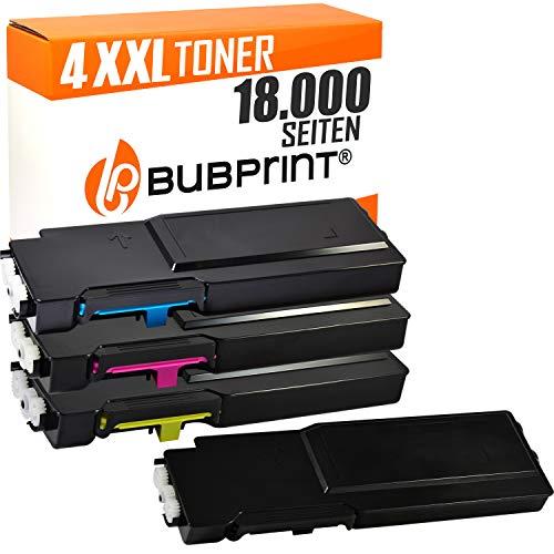 Bubprint 4 Toner kompatibel für Dell C2660 für C2660DN C2665DNF C2600 Series 593-BBBU 593-BBBT 593-BBBS 593-BBBR Schwarz Cyan Magenta Yellow