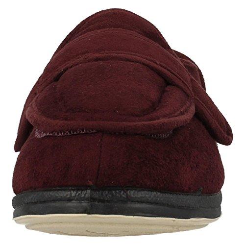 Padders Damen Enfold Velcro Schuhe Rot