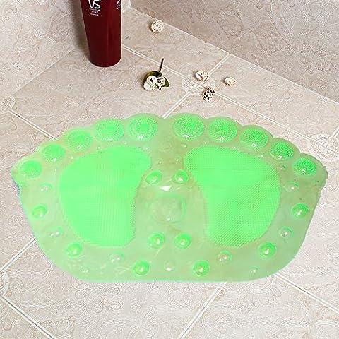 Alfombra de Baño antideslizante con un cuarto de baño ducha cupule esteras bañera ducha mat -36*58cm verde fluorescente