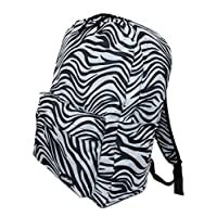 School Backpack A4 Boys Girls College Ladies Mens Work Office Rucksack (Zebra)