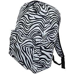 Niñas Niños Mochila Escuela de Estudiantes (5055 Zebra)