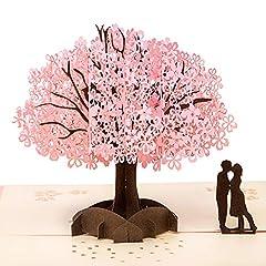 Idea Regalo - Biglietto d'Auguri Matrimonio Carta 3D Pop-up d'Amore per Compleanno Romantico e per la Festa della Mamma /Anniversario/Nozze