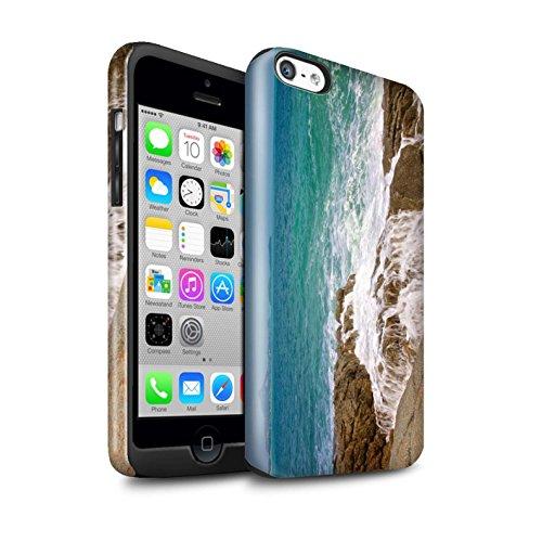 STUFF4 Glanz Harten Stoßfest Hülle / Case für Apple iPhone 5C / Sonnenstrahlen Muster / Thailand Landschaft Kollektion Küstenfelsen