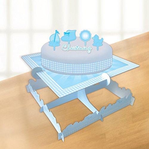 Taufe Blue Booties, Kuchen-Dekorations-Set