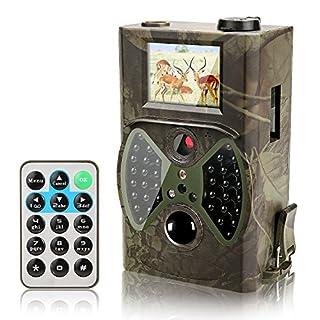 Wildkamera Ancheer Jagdkamera Infrarot Überwachungskamera 12MP HD 1080P Jagdzeug , Nachsicht Wasserdicht ,unterstützt GMS-Funktion