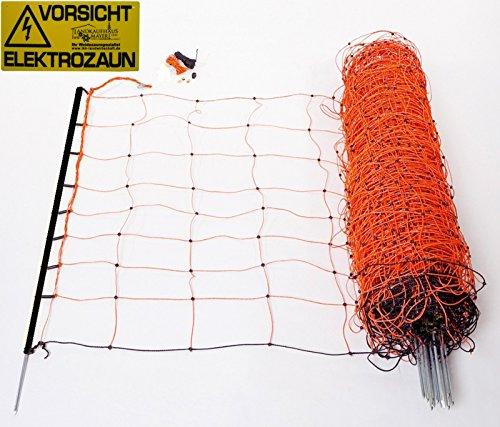 *Schafnetz Schafzaun 90cm hoch, 50m lang, inkl. 14 Stäbe mit Metallspitze auch für größere Hunde geeignet!*