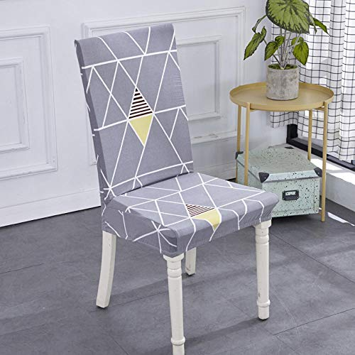 Jasken yyqx container Elastic Piece Cover Home Computer Stool Set Simple Restaurant Hotel Office Chair Cover Fabric Back Set 2 Sets, Magic Geometry, Simple Models -